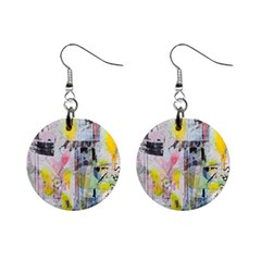 Graffiti Graphic Mini Button Earrings