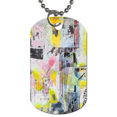 Graffiti Graphic Dog Tag (one Sided) by ArtistRoseanneJones
