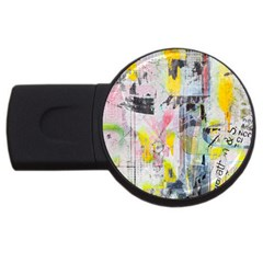 Graffiti Graphic 2gb Usb Flash Drive (round) by ArtistRoseanneJones