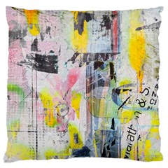 Graffiti Graphic Large Cushion Case (single Sided)  by ArtistRoseanneJones