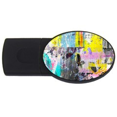 Graffiti Pop 2gb Usb Flash Drive (oval) by ArtistRoseanneJones