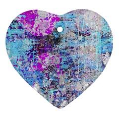 Graffiti Splatter Heart Ornament by ArtistRoseanneJones