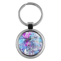 Graffiti Splatter Key Chain (round) by ArtistRoseanneJones