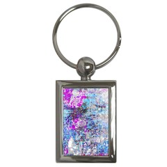 Graffiti Splatter Key Chain (rectangle) by ArtistRoseanneJones