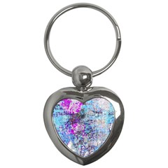 Graffiti Splatter Key Chain (heart) by ArtistRoseanneJones