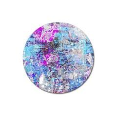 Graffiti Splatter Magnet 3  (round) by ArtistRoseanneJones