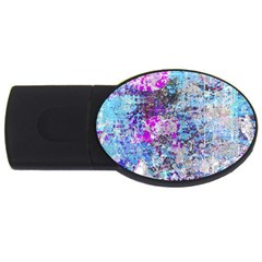 Graffiti Splatter 4gb Usb Flash Drive (oval) by ArtistRoseanneJones