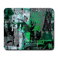 Green Urban Graffiti Large Mouse Pad (rectangle) by ArtistRoseanneJones