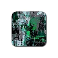 Green Urban Graffiti Drink Coaster (square) by ArtistRoseanneJones
