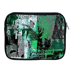 Green Urban Graffiti Apple Ipad Zippered Sleeve by ArtistRoseanneJones