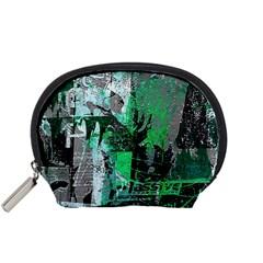 Green Urban Graffiti Accessory Pouch (small)