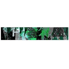 Green Urban Graffiti Flano Scarf (large) by ArtistRoseanneJones