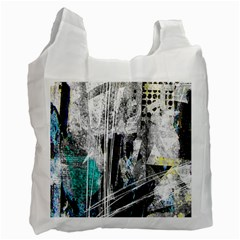 Urban Funk White Reusable Bag (Two Sides) by ArtistRoseanneJones