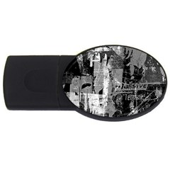 Urban Graffiti 2gb Usb Flash Drive (oval) by ArtistRoseanneJones