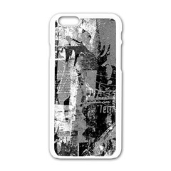 Urban Graffiti Apple Iphone 6 White Enamel Case by ArtistRoseanneJones