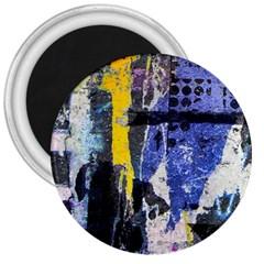 Urban Grunge 3  Button Magnet by ArtistRoseanneJones