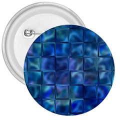 Blue Squares Tiles 3  Button by KirstenStar