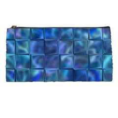 Blue Squares Tiles Pencil Case by KirstenStar