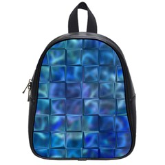 Blue Squares Tiles School Bag (small) by KirstenStar