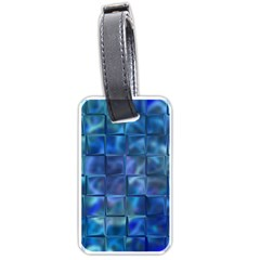 Blue Squares Tiles Luggage Tag (one Side) by KirstenStar