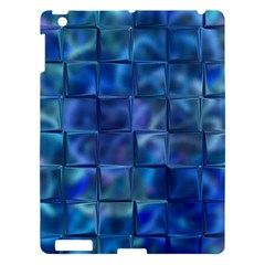 Blue Squares Tiles Apple Ipad 3/4 Hardshell Case by KirstenStar