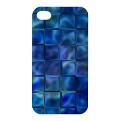 Blue Squares Tiles Apple Iphone 4/4s Premium Hardshell Case by KirstenStar