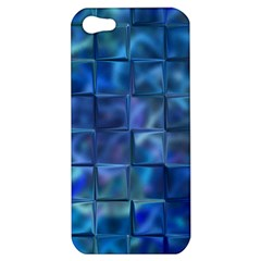 Blue Squares Tiles Apple Iphone 5 Hardshell Case