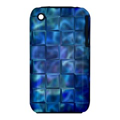 Blue Squares Tiles Apple Iphone 3g/3gs Hardshell Case (pc+silicone) by KirstenStar