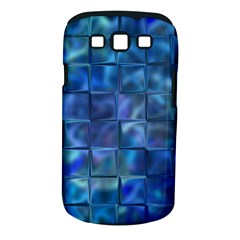 Blue Squares Tiles Samsung Galaxy S Iii Classic Hardshell Case (pc+silicone) by KirstenStar