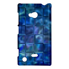 Blue Squares Tiles Nokia Lumia 720 Hardshell Case by KirstenStar