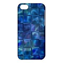 Blue Squares Tiles Apple Iphone 5c Hardshell Case by KirstenStar