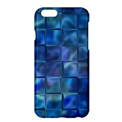 Blue Squares Tiles Apple Iphone 6 Plus Hardshell Case by KirstenStar