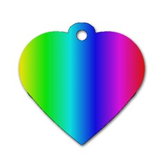 Crayon Box Dog Tag Heart (one Sided)  by Artists4God