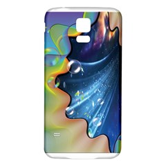 Cocktail Bubbles Samsung Galaxy S5 Back Case (White) by JustKidding