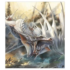 White Dragon Con 2015 By Patrick F Roberts   Drawstring Pouch (medium)   Edrkb0ok4o7y   Www Artscow Com Front