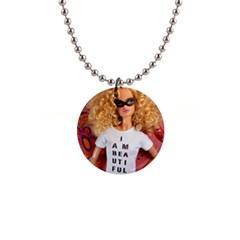 I Am Beautiful   Kinzie Button Necklace by tiffanygholar