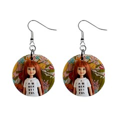 I Am Beautiful   Lila Mini Button Earrings by tiffanygholar
