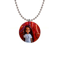 I Am Beautiful   Janet Button Necklace by tiffanygholar
