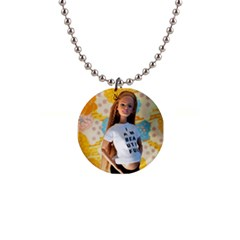 I Am Beautiful   Midge Button Necklace by tiffanygholar