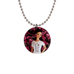 I Am Beautiful   Isabela Button Necklace by tiffanygholar