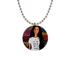 I Am Beautiful   Miko 2 1  Button Necklace by tiffanygholar