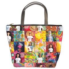 We Are Beautiful Patchwork 2 Bucket Handbag by tiffanygholar