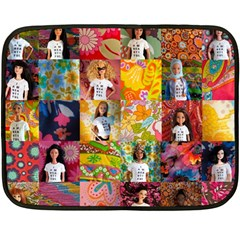 We Are Beautiful Patchwork 2 Mini Fleece Blanket (two Sided) by tiffanygholar