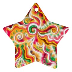 Sunshine Swirls Star Ornament