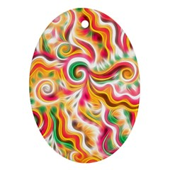Sunshine Swirls Oval Ornament (two Sides) by KirstenStar