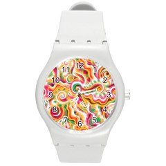 Sunshine Swirls Plastic Sport Watch (medium) by KirstenStar