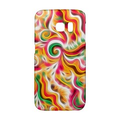 Sunshine Swirls Samsung Galaxy S6 Edge Hardshell Case by KirstenStar