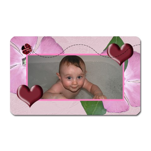 Ladybug Hearts Magnet Retangular2 By Chere s Creations   Magnet (rectangular)   Uslpp3ngjy14   Www Artscow Com Front