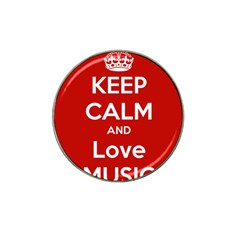 Keep Calm And Love Music 5739 Golf Ball Marker (for Hat Clip) by SuperFunHappyTime
