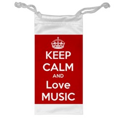 Keep Calm And Love Music 5739 Jewelry Bag by SuperFunHappyTime